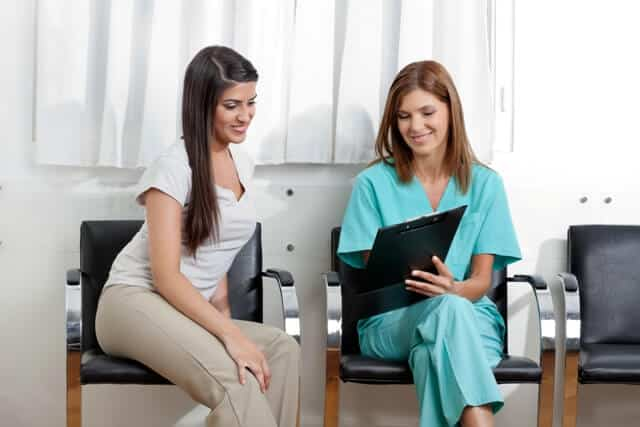 orthodontist and patient